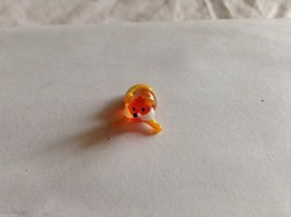Micro Miniature small hand blown glass made USA  yellow orange fox lying down
