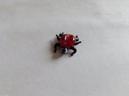 Micro Miniature small hand blown glass made USA ladybug w funny face