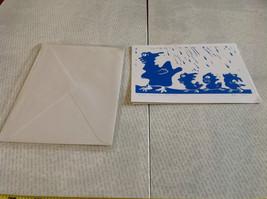 Make Way for Monsters Original Wood Block Handmade Greeting Card with Envelope image 2