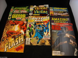 Mixed Lot of Spiderman, Venom, Green Lantern, and The Flash Comic Books