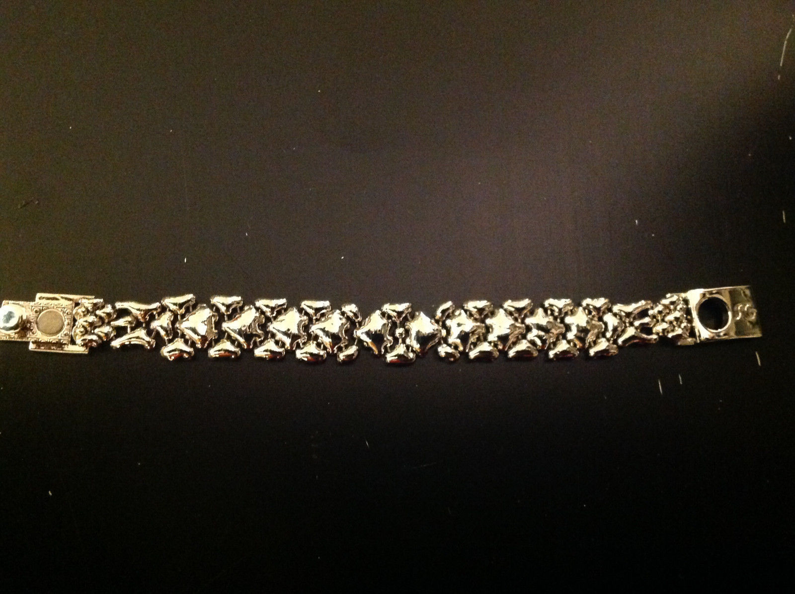 Patterned Nickel Chrome SG Liquid Celebrity Approved Bracelet 7.5 inches