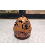 Peruvian Gourd Art Hand Carved in Peru Creating a Beautiful World Lucuma... - $39.99