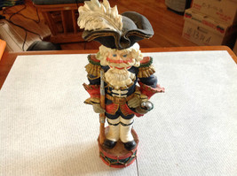 Resin Soldier Figurine Nutcracker Trifold Hat 10 and a Half Inches Tall