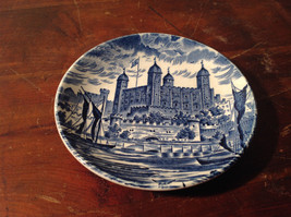 Royal Homes of Britain Blue and White Small Plate Made in England Wedgwood