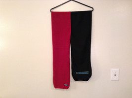 Set of Two Eddie Bauer Scarves One Red Black with Blue Diamonds and One Red