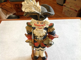 Resin Soldier Figurine Nutcracker Trifold Hat 10 and a Half Inches Tall image 4