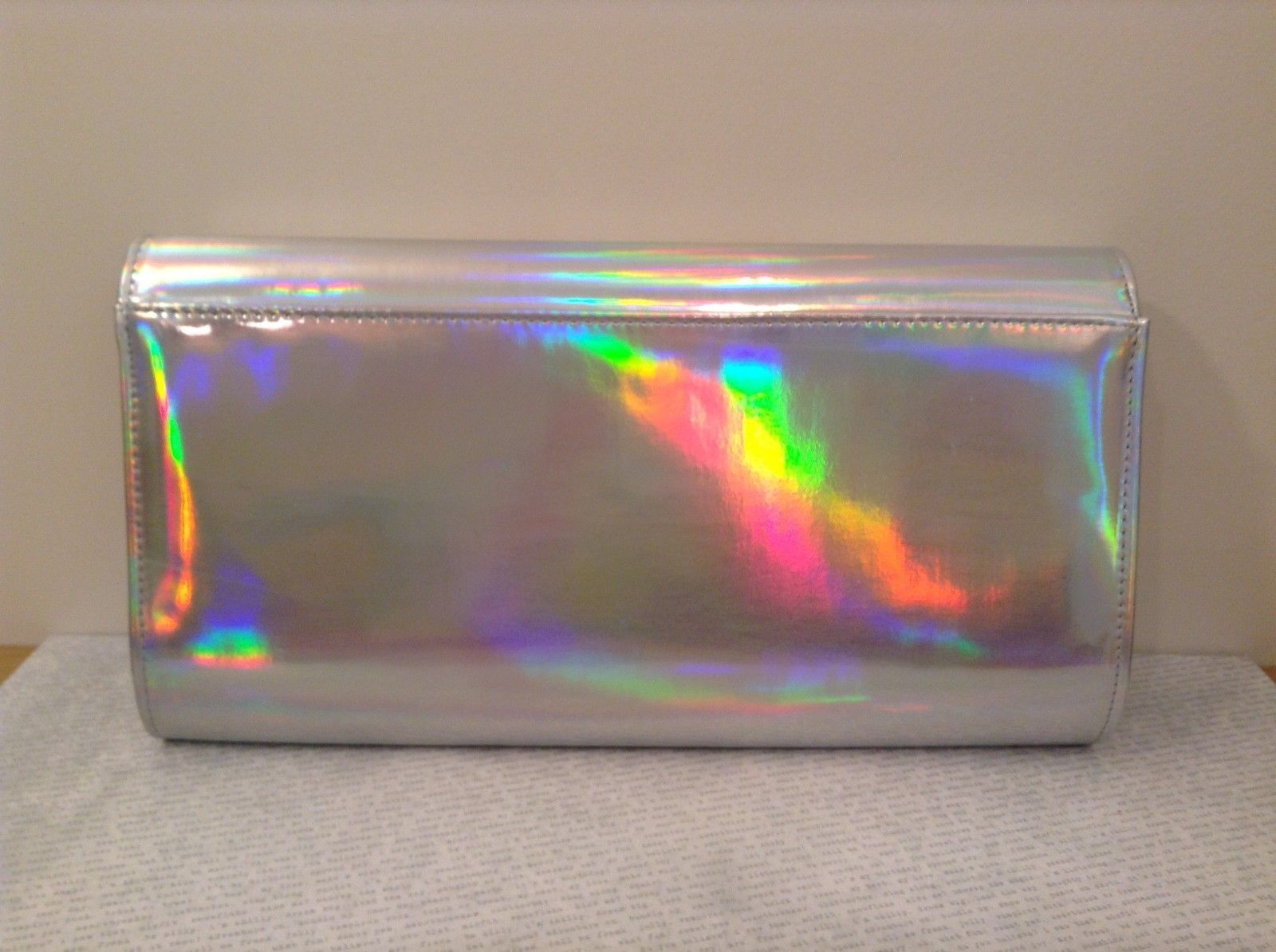 Shiny clutch w magnetic closure shoulder chain color choice Forest through Trees