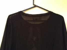 Size XL Black with Lace Trim on Front Long Sleeves Blouse Jones New York image 6