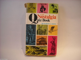 The Nostalgia Quiz Book by Martin A Gross 1969 Arlington House