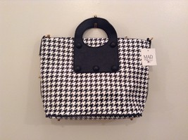 Two handbags in one Tote w shoulder bag nested color choice houndstooth