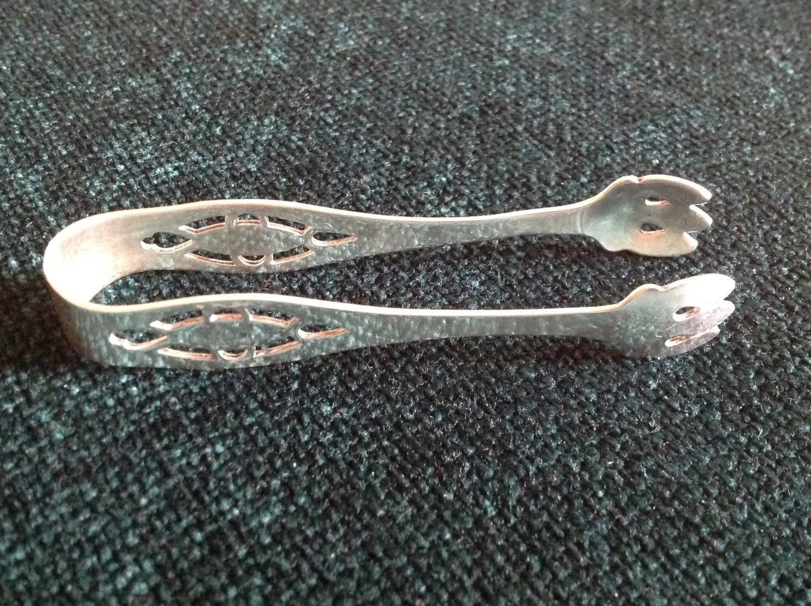 Vintage Antique Sterling Silver Heirloom Sugar Cube Tongs
