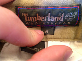 Timberland Weather Wear Size 6 Beige Pants Zipper Two Button in Front Closure image 9