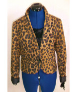 funky punky H&M leopard print cotton jacket size 14,lined, button front - $42.95