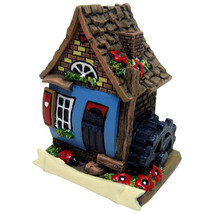 Blue fairy house with water wheel and ladybird Approx 6cm tall by 4cm ac... - £5.39 GBP