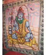 KingSizeThrow/ WallHanging/ BedSpread.Screen/hand-Printed.Ganeshe.Shiva - $37.19