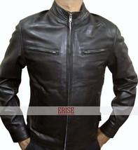 Fast And Furious 6 Vin Diesel Real Biker Black Leather Jacket - $179.00
