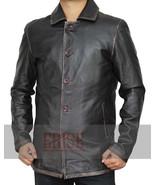 Brown Supernatural Distressed Real Leather Jacket - 100% Money Back Guarantee !! - $179.00