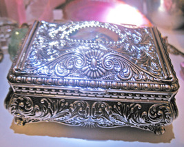 Haunted Magnifying Magick Empower Energies Silver Chest Witch Cassia4  - $33.00