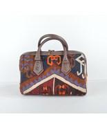 Kilim Bag, Kilim Duffle bag, Mini Duffle Bag, Bowling Bag, Boho Chic Bag - $199.00