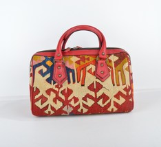 bags,handmade bags,bags and purses,leather bags,wool bags, redleather ba... - $199.00
