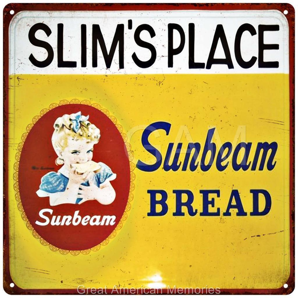 Sunbeam Bread Slim`s Place Vintage Look Reproduction Metal Sign 12x12 2120069