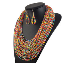 Multilayer Beads Necklace Jewelry Women Accessories Fashion earrings JrBOW - $21.99