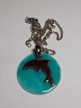 beautiful dolphin pendant and adjustable chain-16 to 18 inches - $14.95