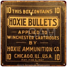 Hoxie Bullets Winchester Cartridges Vintage Rep... - $26.95