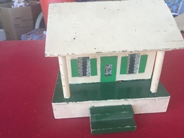Handcrafted wood miniature doll house, Christmas village house,  - $55.00