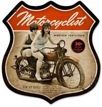 Motorcyclist Shield Pin Ups 1944 Man Cave Motor... - $32.95