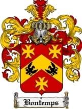 Bontemps Family Crest / Coat of Arms JPG or PDF Image Download - $6.99