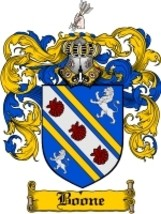 Boone Family Crest / Coat of Arms JPG or PDF Image Download - $6.99