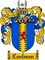 Primary image for Coalman Family Crest / Coat of Arms JPG or PDF Image Download