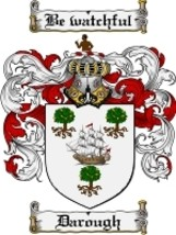 Darough Family Crest / Coat of Arms JPG or PDF Image Download - $6.99