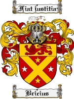 Primary image for Bricius Family Crest / Coat of Arms JPG or PDF Image Download