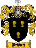 Primary image for Brickett Family Crest / Coat of Arms JPG or PDF Image Download