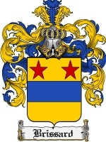 Primary image for Brissard Family Crest / Coat of Arms JPG or PDF Image Download