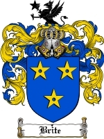 Primary image for Brite Family Crest / Coat of Arms JPG or PDF Image Download