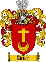 Primary image for Brkich Family Crest / Coat of Arms JPG or PDF Image Download