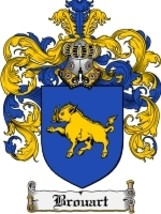 Brouart Family Crest / Coat of Arms JPG or PDF ... - $6.99