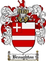 Primary image for Broughton Family Crest / Coat of Arms JPG or PDF Image Download