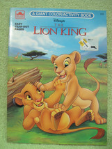 LION KING Vintage Coloring Book 1994 DISNEY Nala Simba PUZZLE Activity P... - $10.99