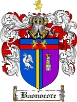Primary image for Buonocore Family Crest / Coat of Arms JPG or PDF Image Download
