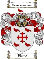 Primary image for Burd Family Crest / Coat of Arms JPG or PDF Image Download