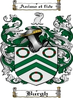Primary image for Burgh Family Crest / Coat of Arms JPG or PDF Image Download