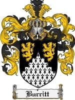 Primary image for Burritt Family Crest / Coat of Arms JPG or PDF Image Download