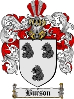 Primary image for Burson Family Crest / Coat of Arms JPG or PDF Image Download
