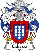Primary image for Cabezas Family Crest / Coat of Arms JPG or PDF Image Download