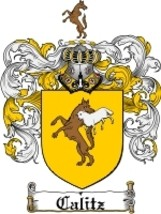 Calitz Family Crest / Coat of Arms JPG or PDF Image Download - $6.99