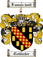 Primary image for Callenter Family Crest / Coat of Arms JPG or PDF Image Download